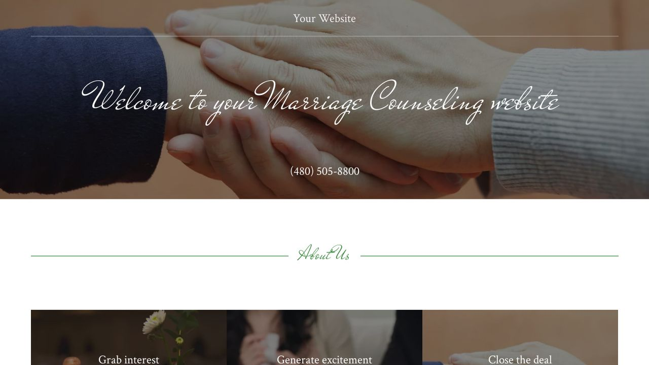Marriage Counseling Website: Example 5