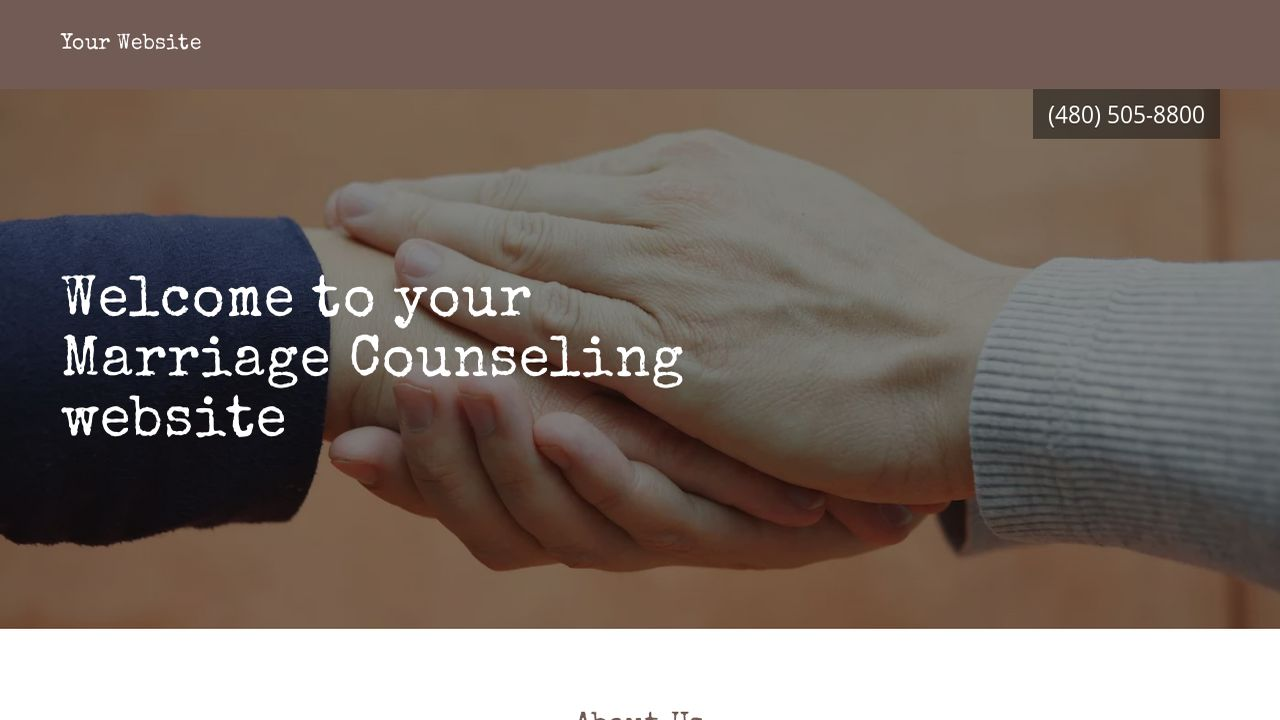Marriage Counseling Website: Example 8