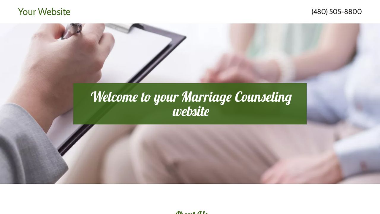 Marriage Counseling Website: Example 9