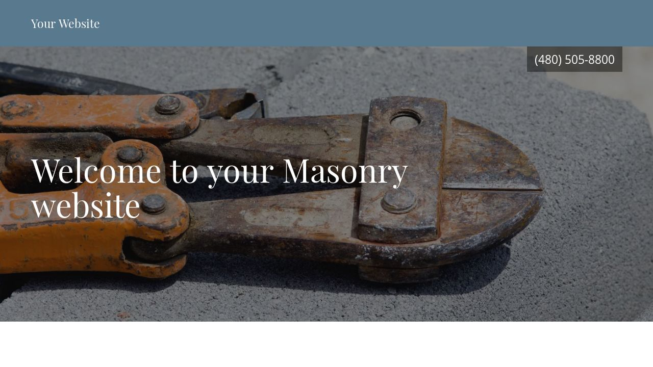 Masonry Website Templates | GoDaddy