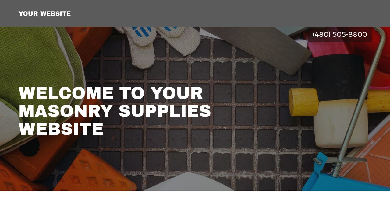 Masonry Supplies Website Templates | GoDaddy