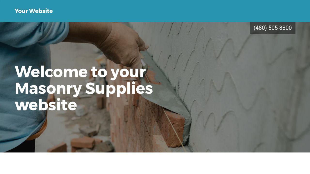 Masonry Supplies Website Templates | GoDaddy