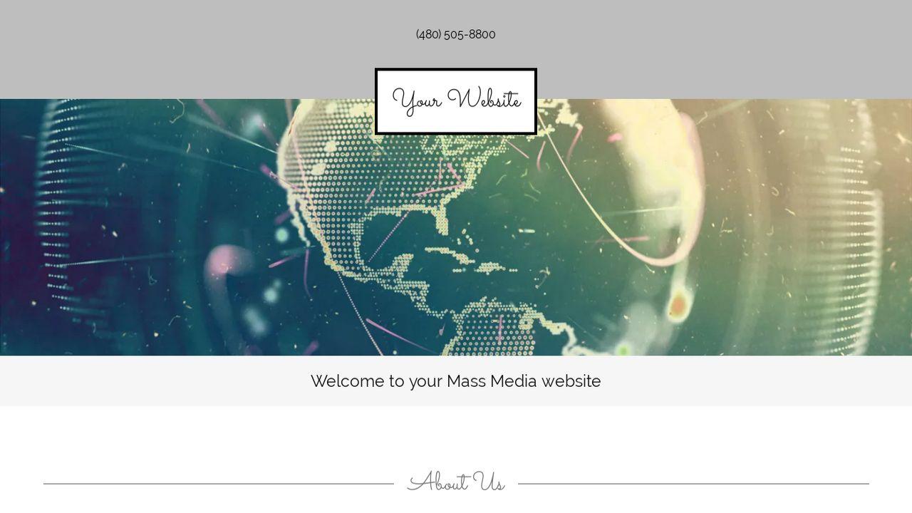 mass media website templates