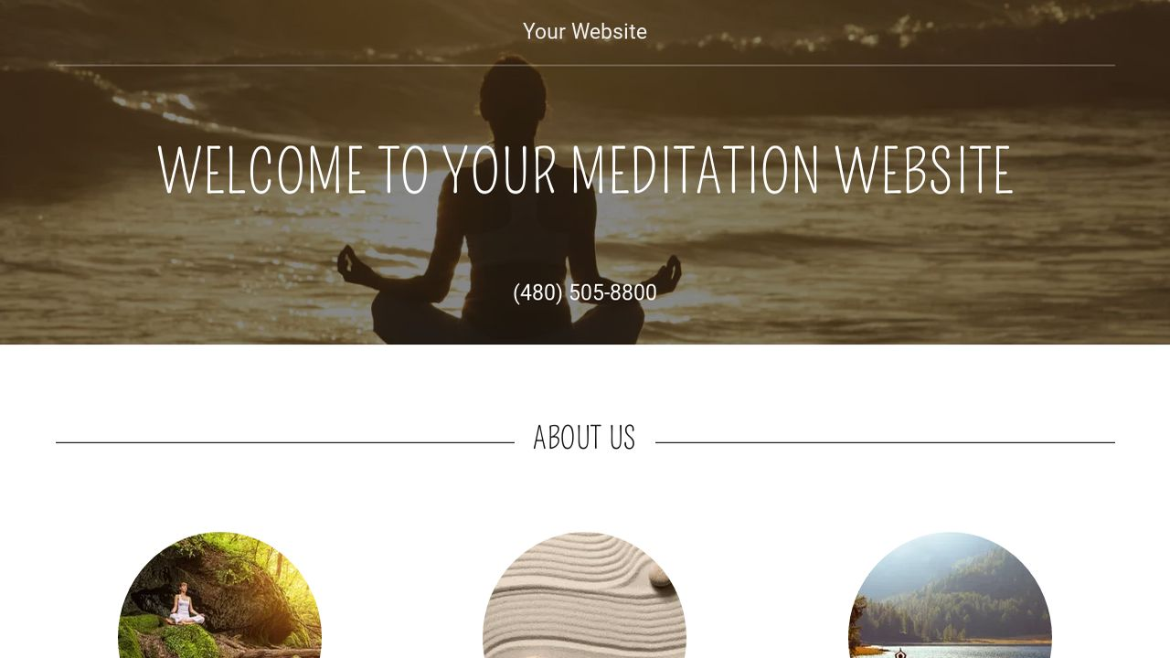 Meditation website templates godaddy for Godaddy ecommerce templates