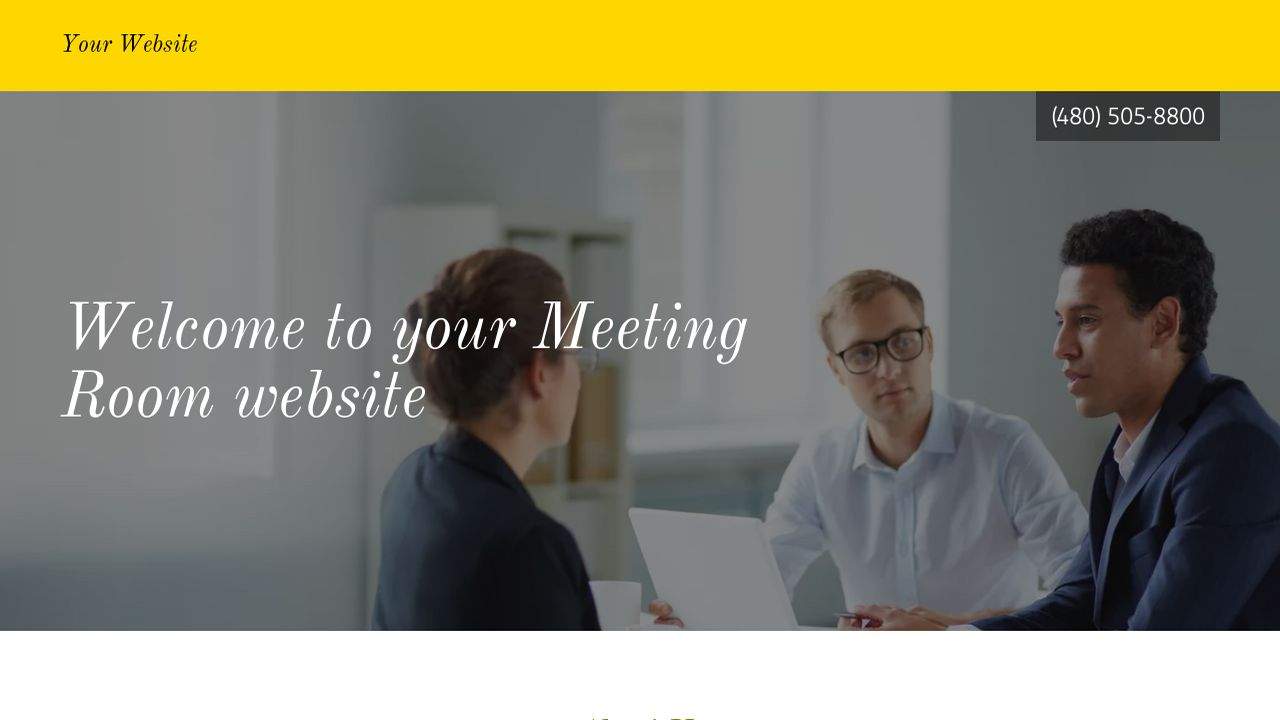 Meeting Room Website: Example 12