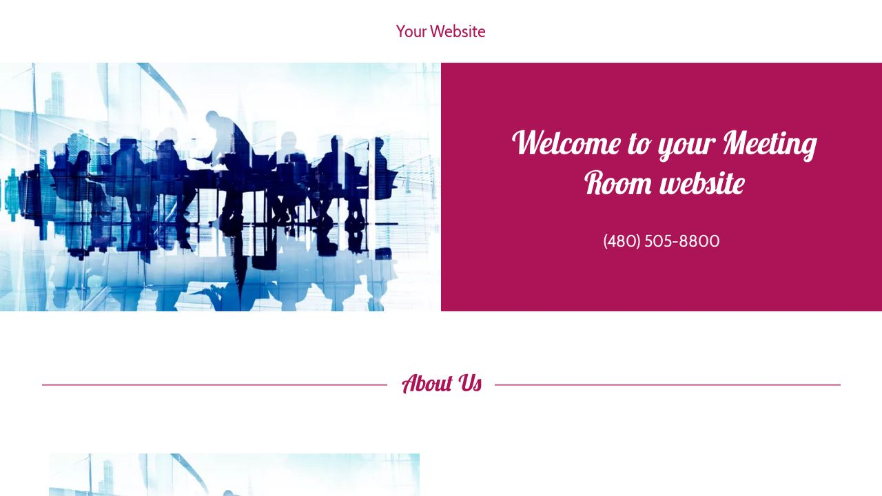 Meeting Room Website: Example 16