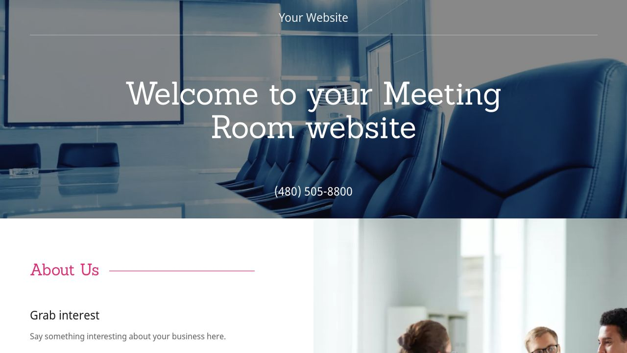 Meeting Room Website: Example 3
