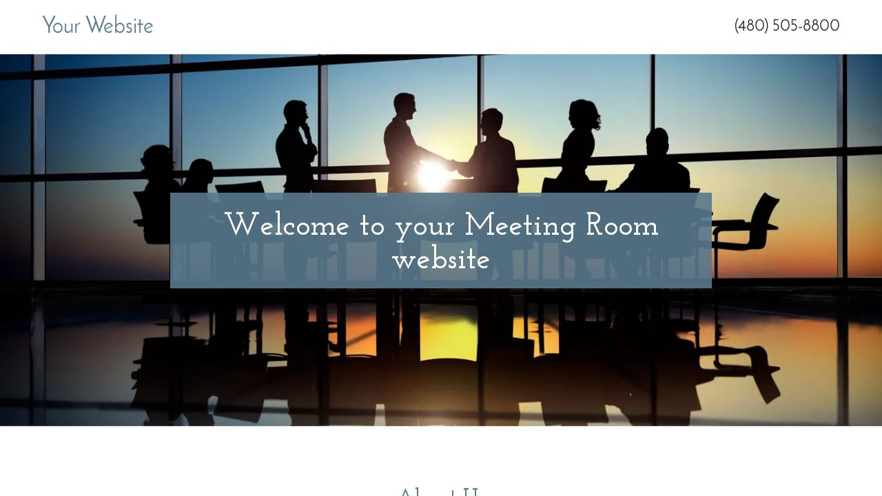 Meeting Room Website: Example 4