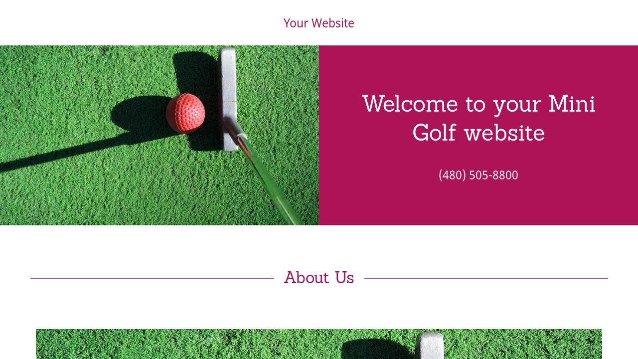 mini golf website templates godaddy. Black Bedroom Furniture Sets. Home Design Ideas