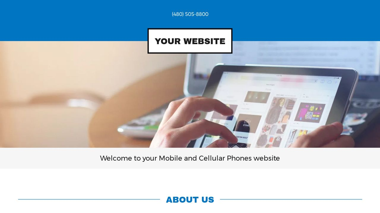 Mobile and Cellular Phones Website: Example 13