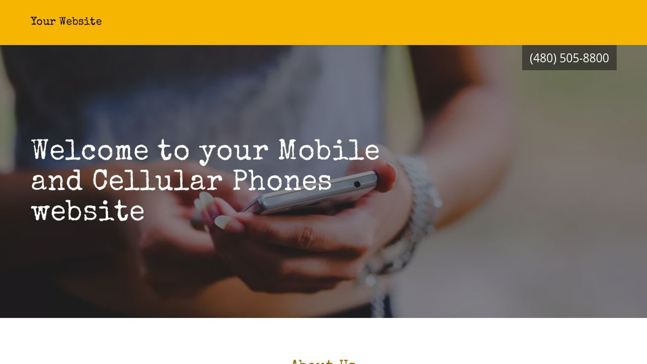 Mobile and Cellular Phones Website: Example 14