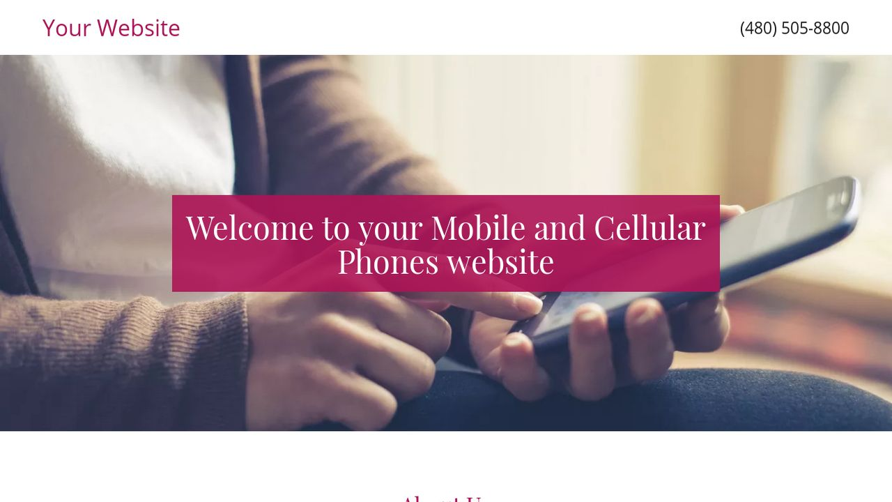Mobile and Cellular Phones Website: Example 18