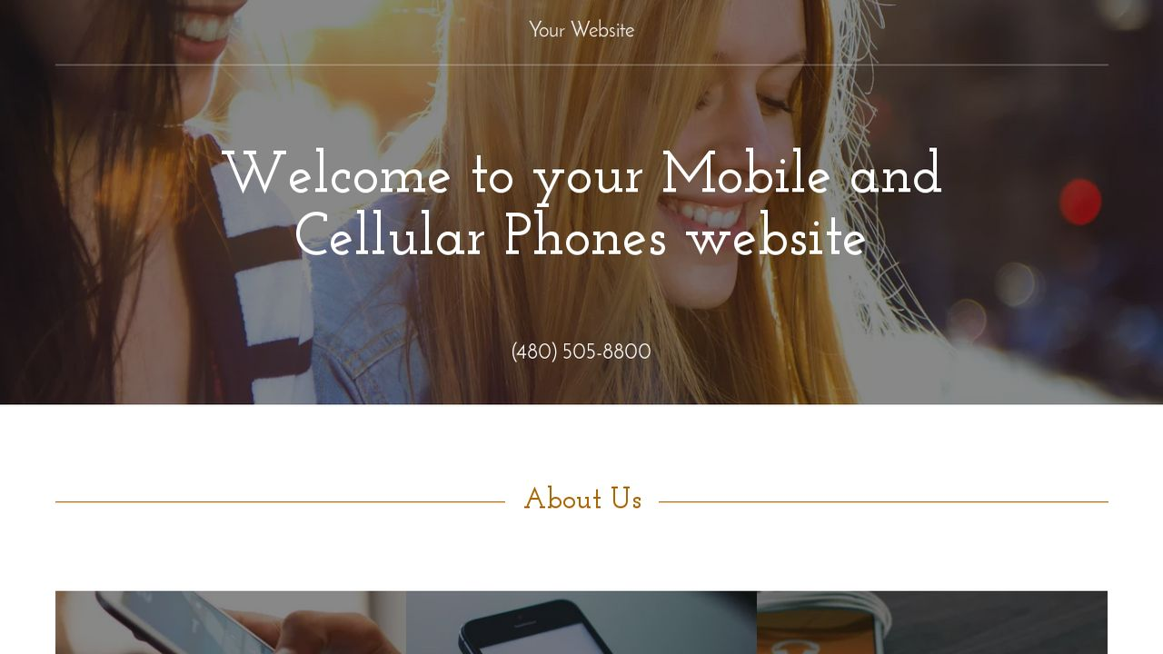 Mobile and Cellular Phones Website: Example 5