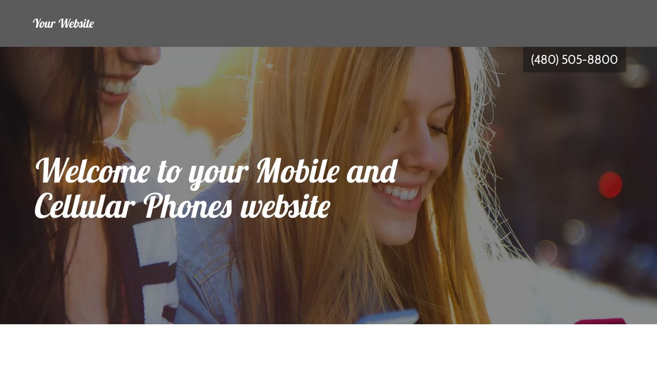 Mobile and Cellular Phones Website: Example 7