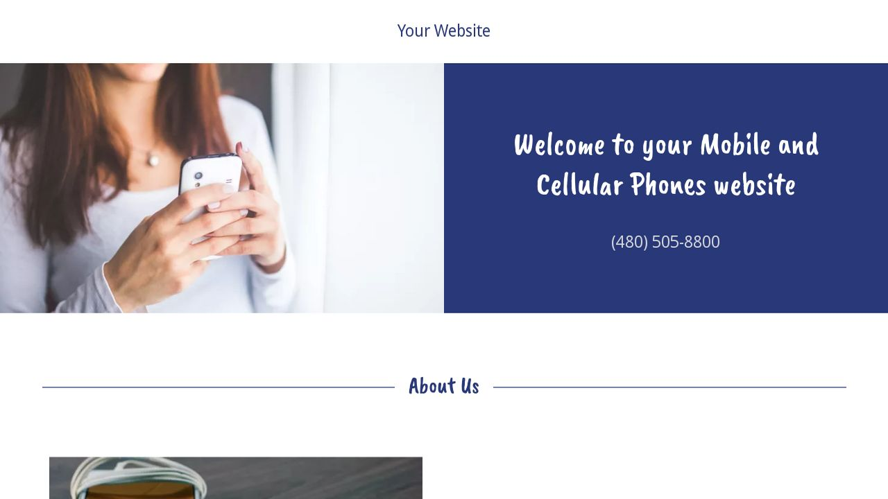 Mobile and Cellular Phones Website: Example 9