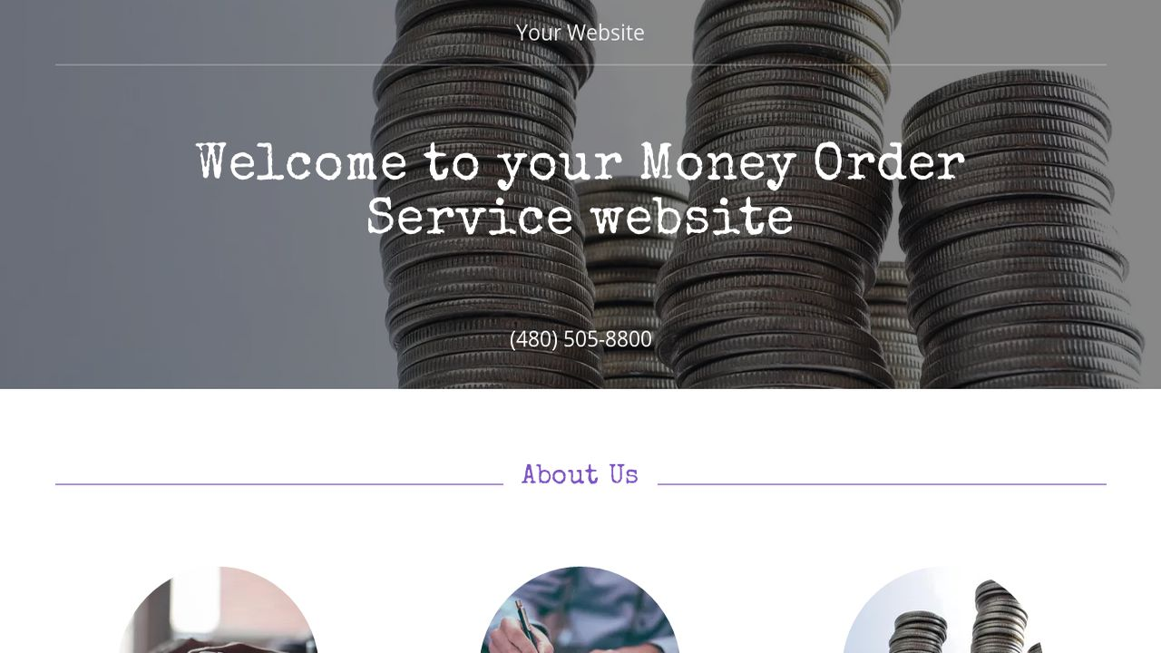 Money Order Service Website: Example 12