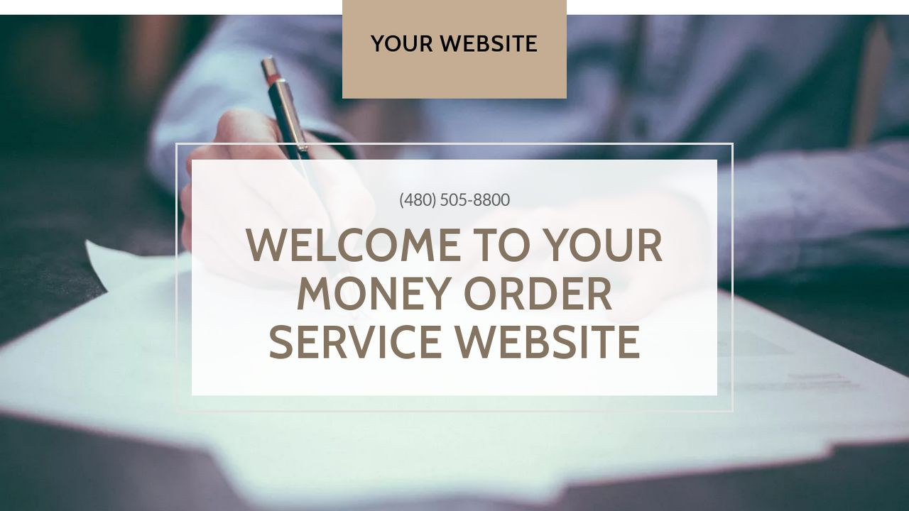 Money Order Service Website: Example 15