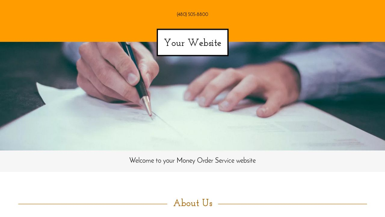 Money Order Service Website: Example 2