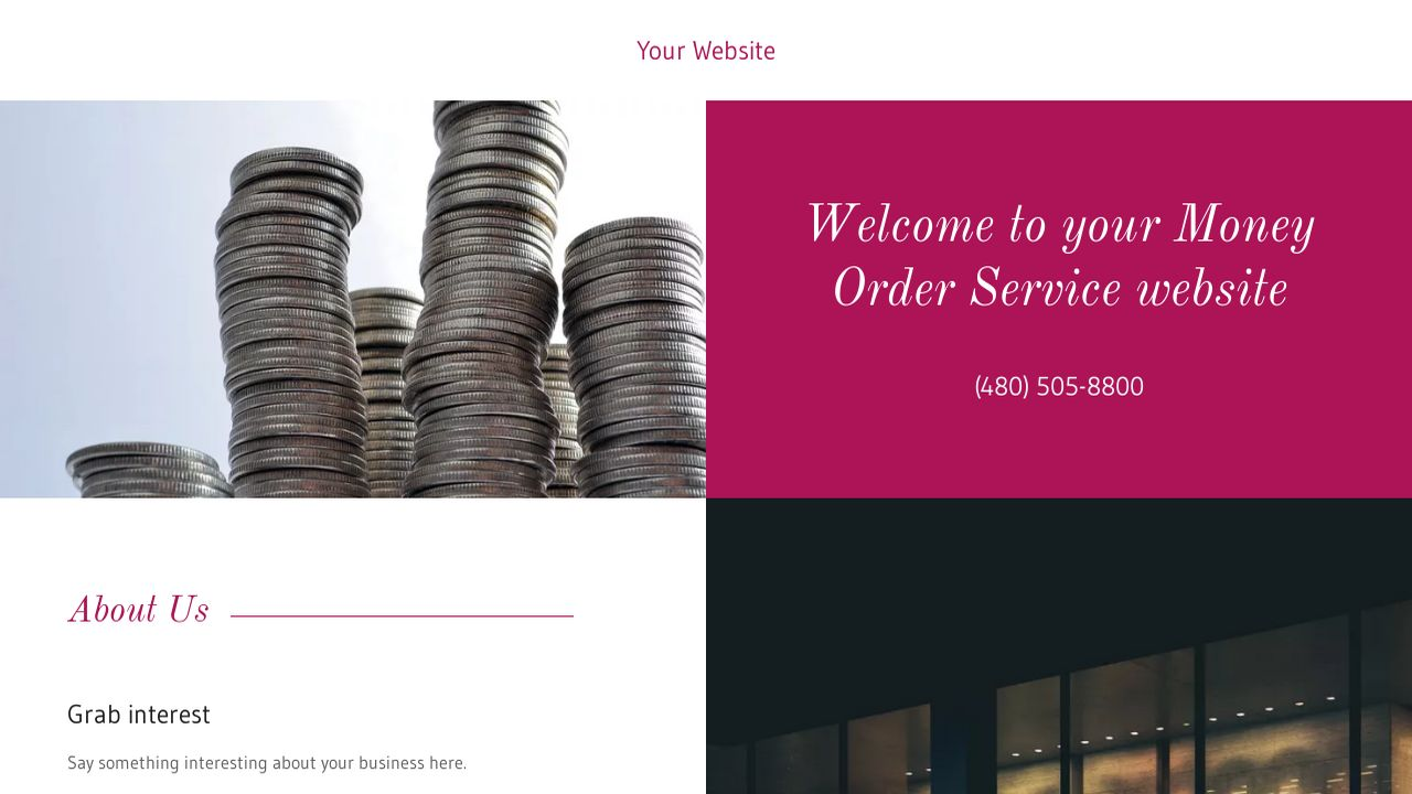 Money Order Service Website: Example 3