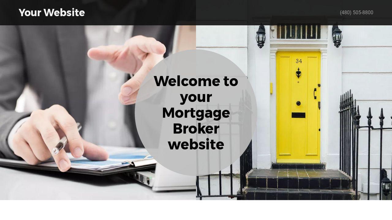 Mortgage Broker Website Templates GoDaddy - Mortgage website templates