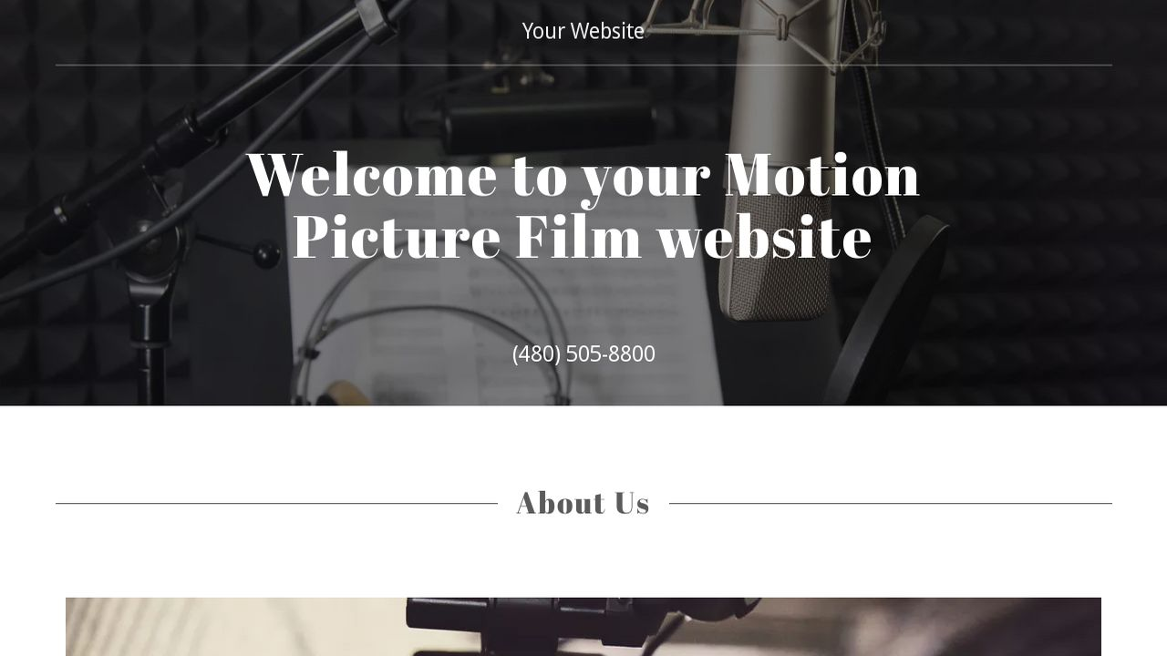Motion Picture Film Website Templates | GoDaddy