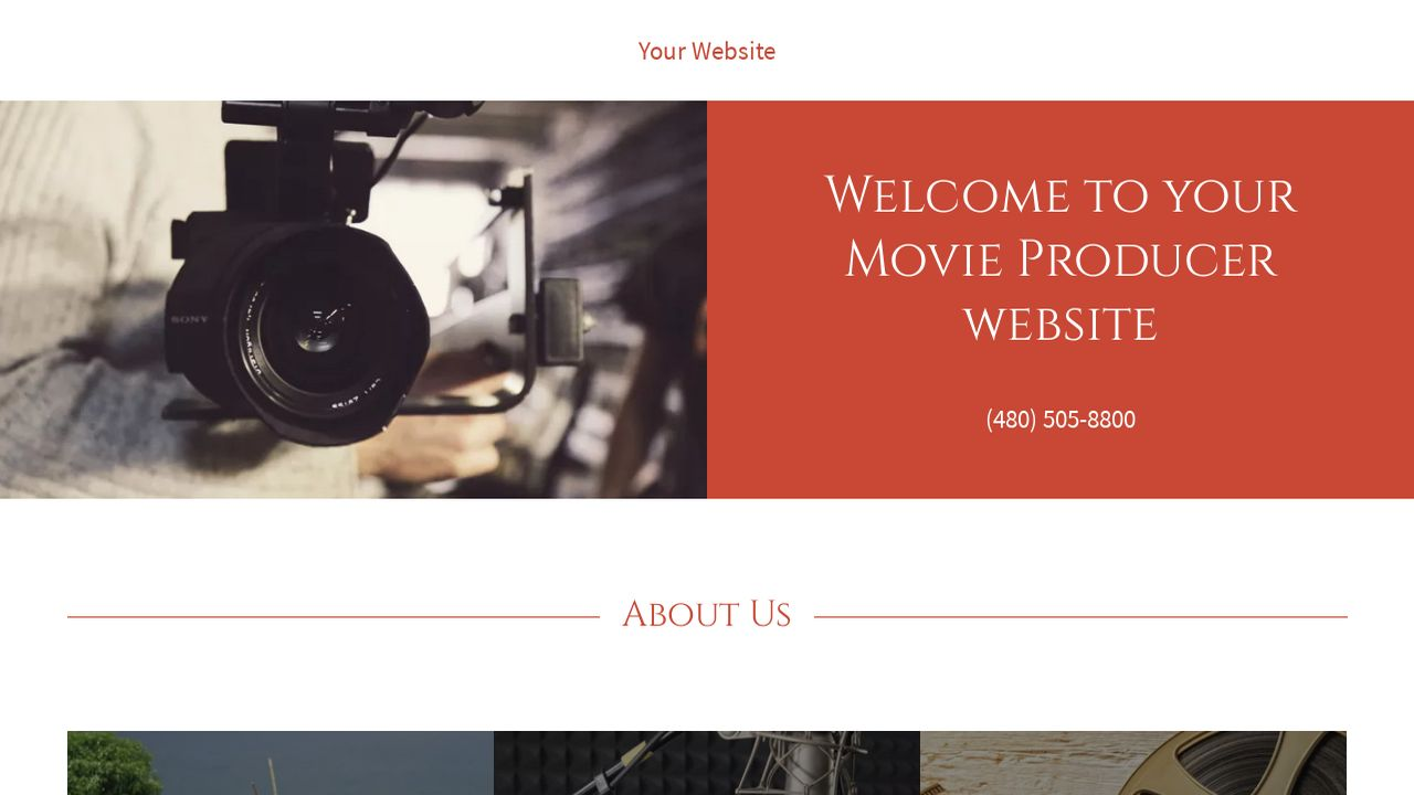 example 18 movie producer website template godaddy. Black Bedroom Furniture Sets. Home Design Ideas