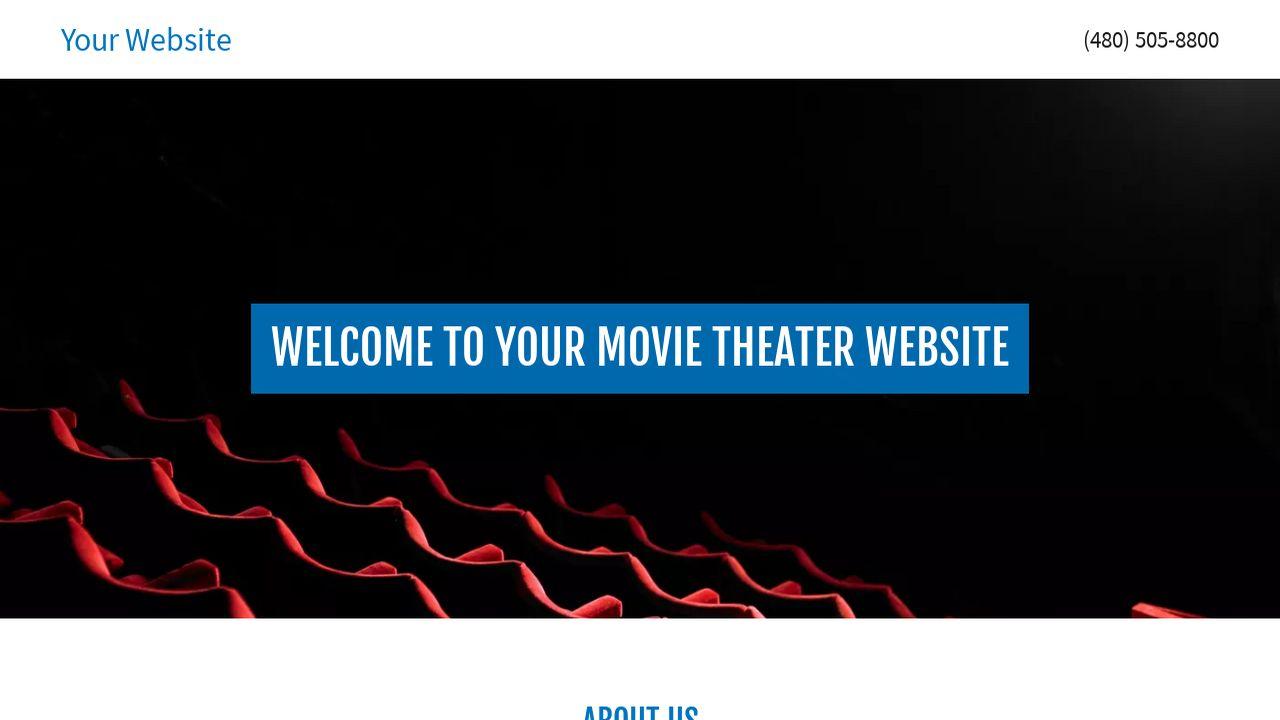 movie theater website templates godaddy