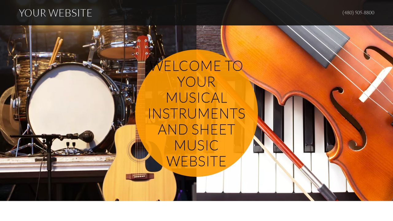 Musical Instruments and Sheet Music Website Templates | GoDaddy