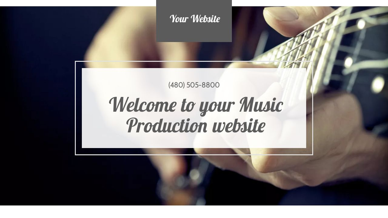 Music Production Website Templates | GoDaddy