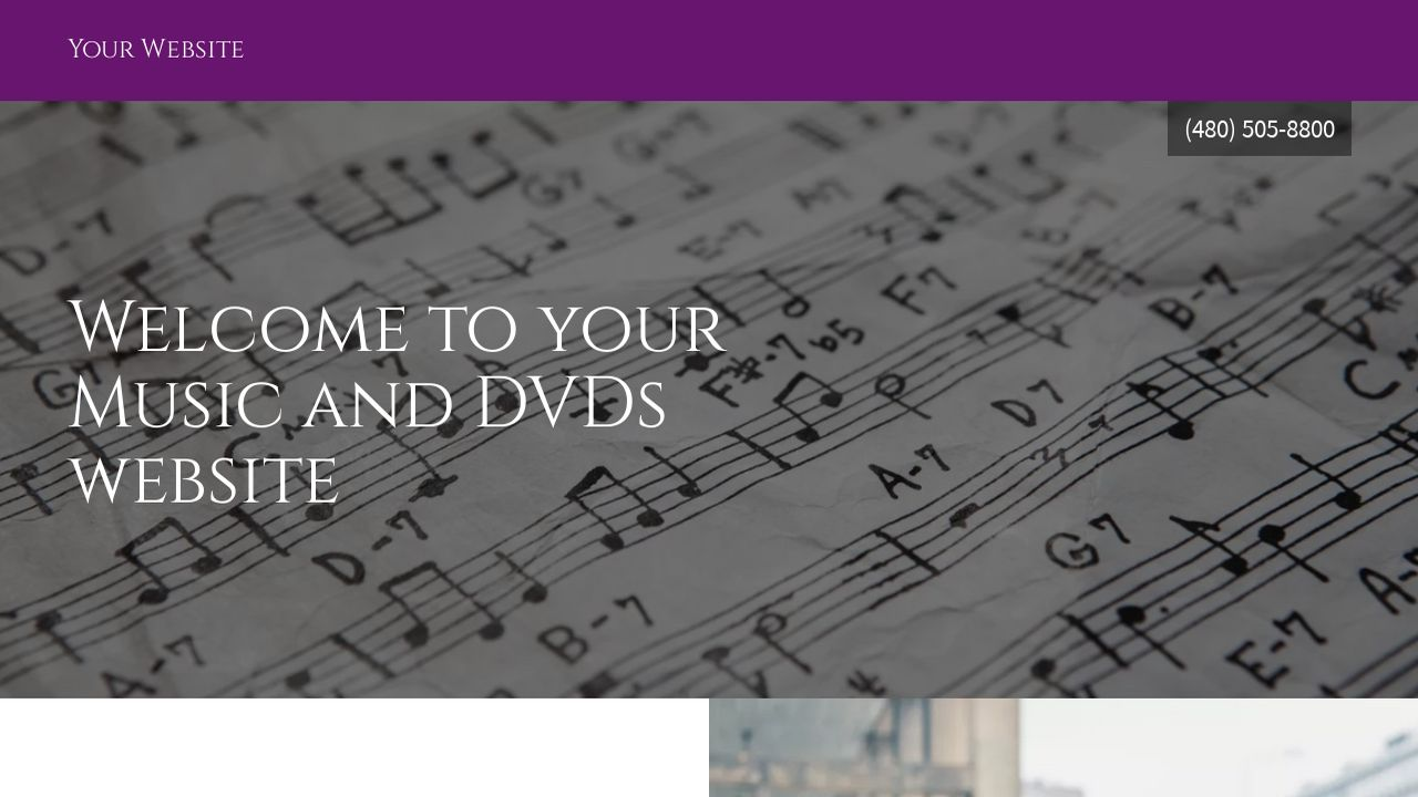 Music and DVDs Website: Example 10