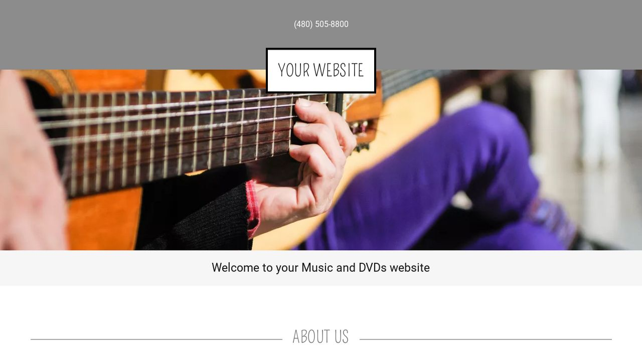 Music and DVDs Website: Example 11