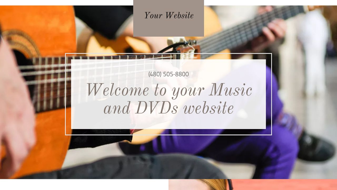 Music and DVDs Website: Example 15