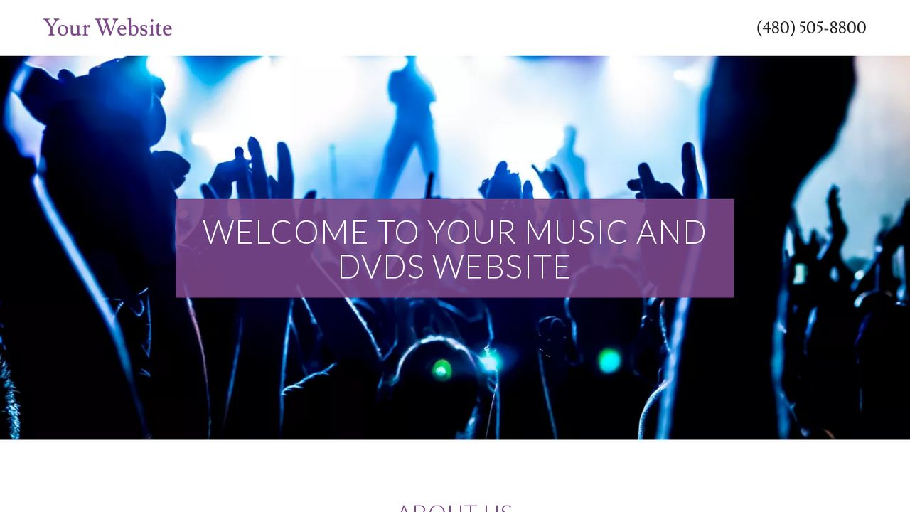 Music and DVDs Website: Example 16