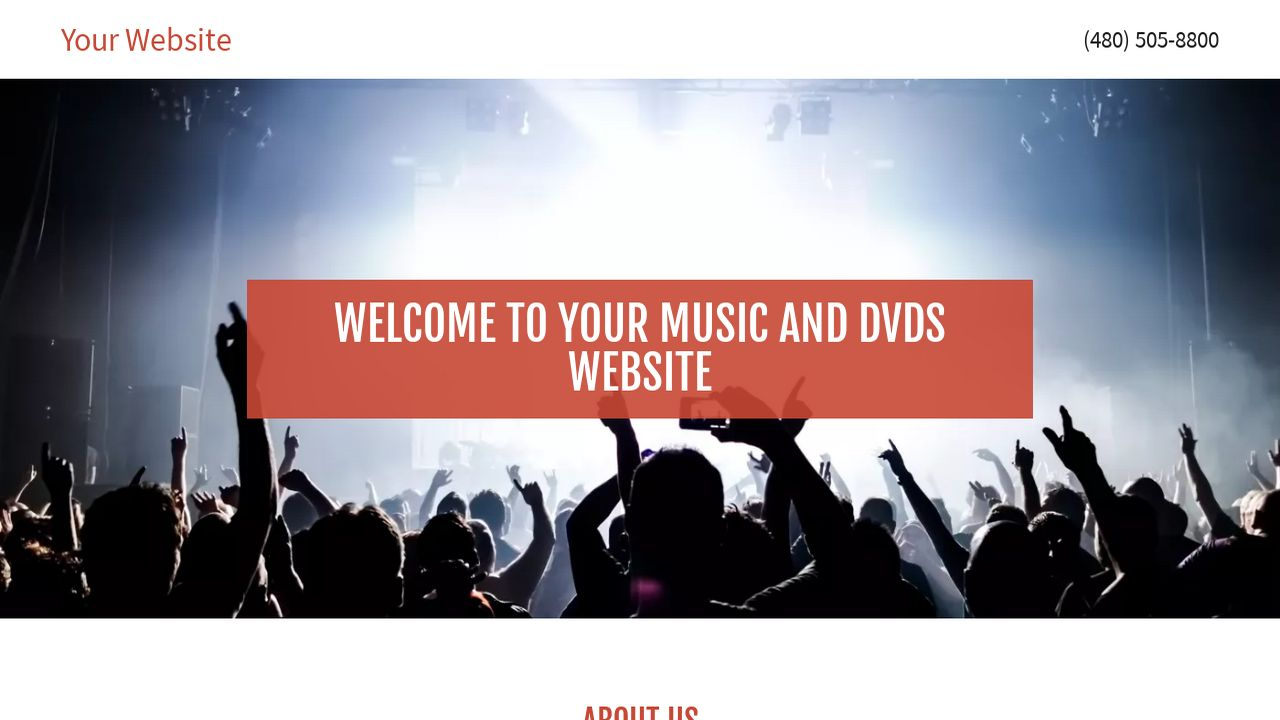 Music and DVDs Website: Example 2