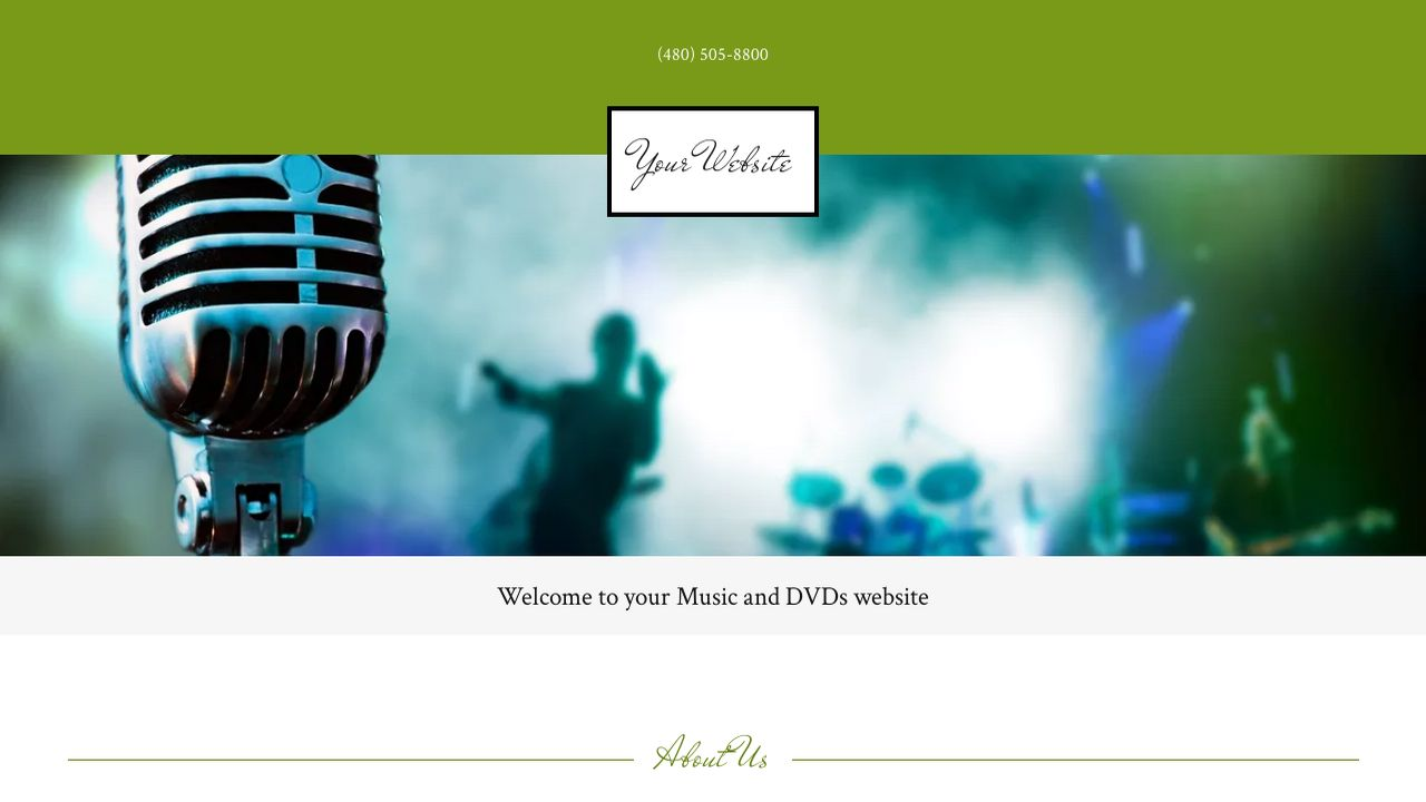 Music and DVDs Website: Example 4