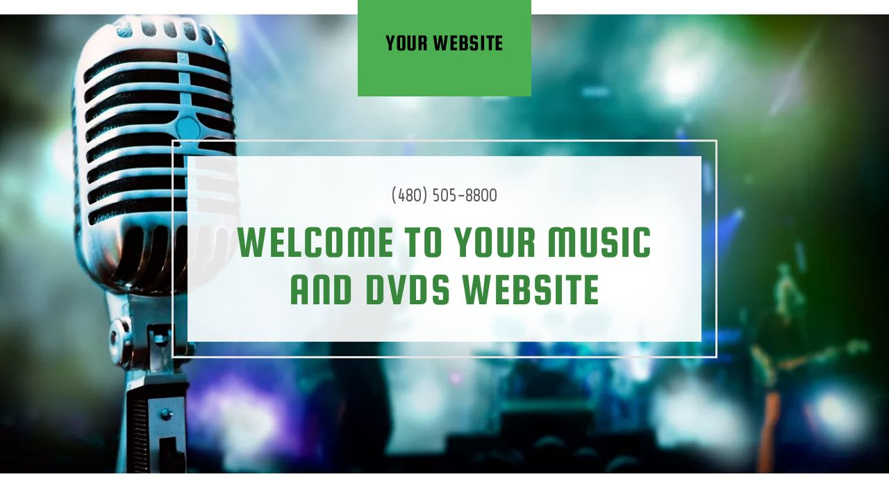 Music and DVDs Website: Example 8