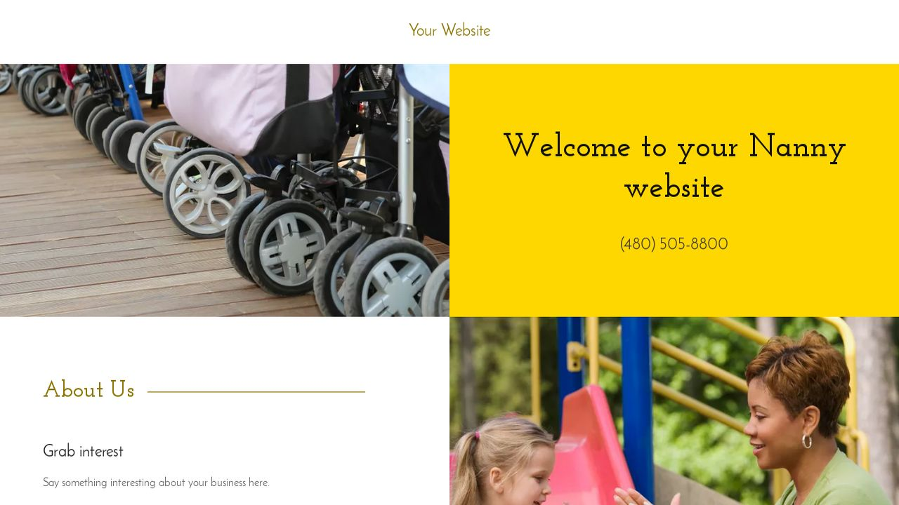Nanny Website: Example 4