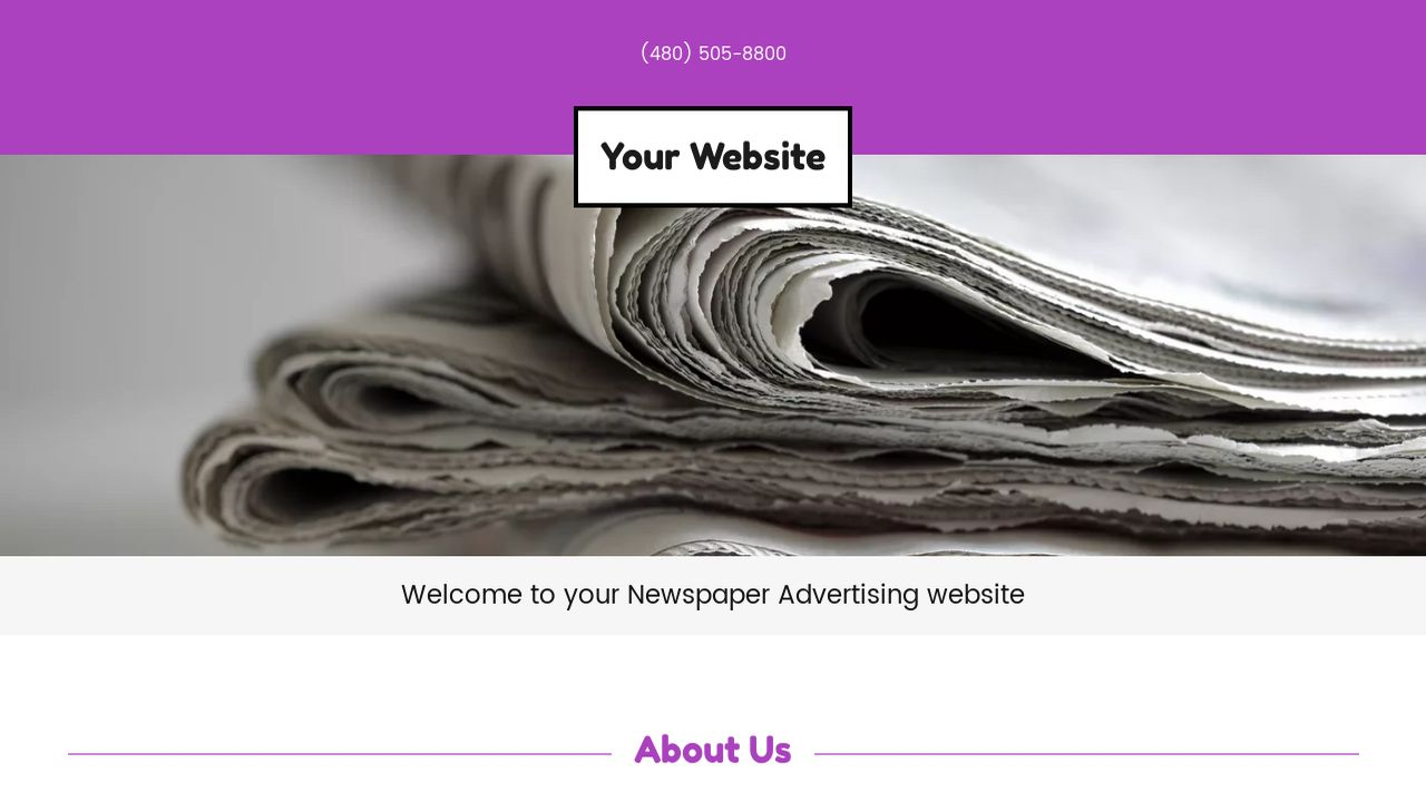 Newspaper Advertising Website Templates | GoDaddy