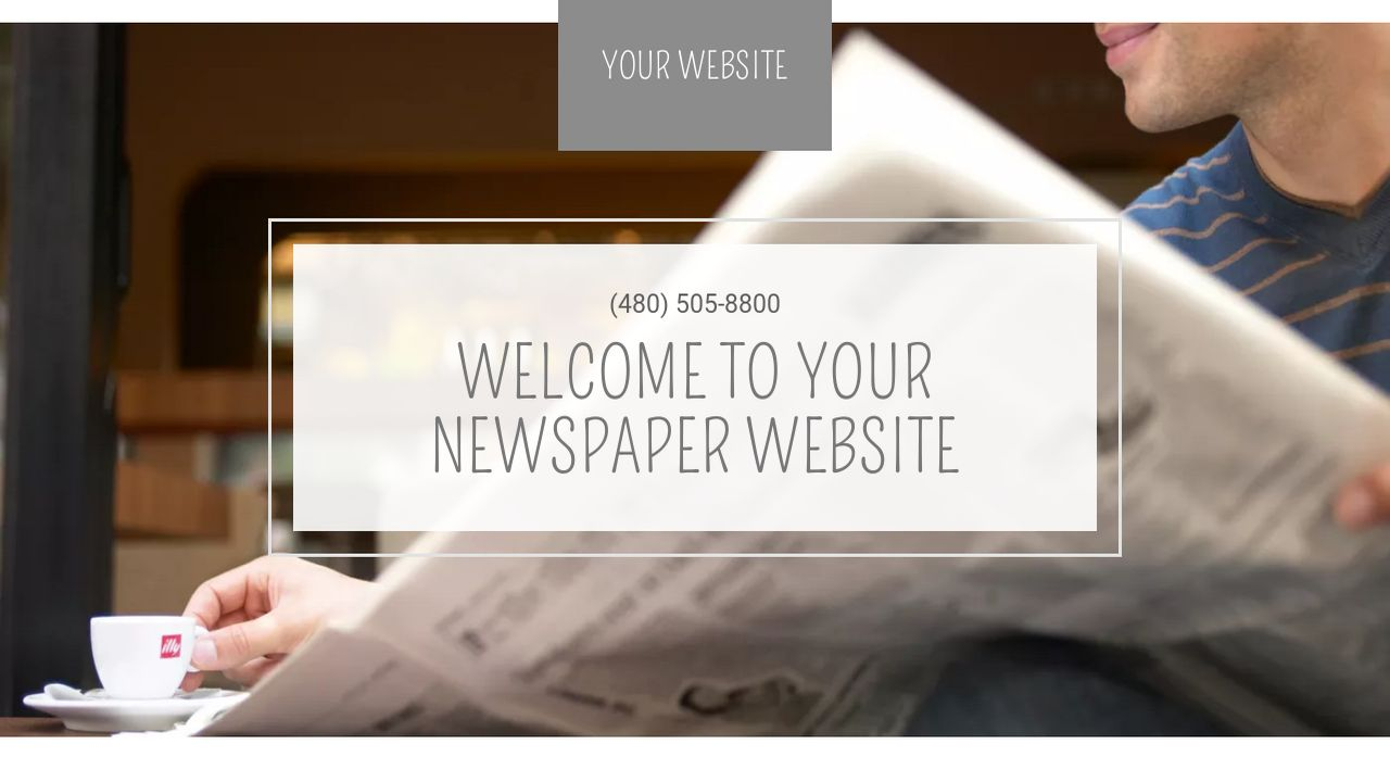 Newspaper Website Templates Godaddy
