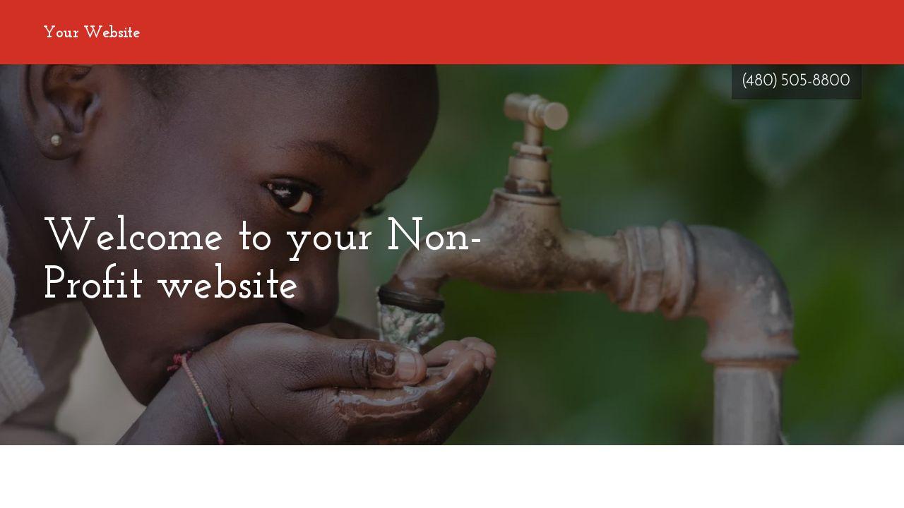 NonProfit Website Templates GoDaddy - Non profit websites templates