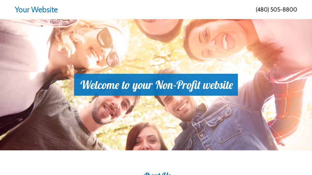 non profit website templates godaddy