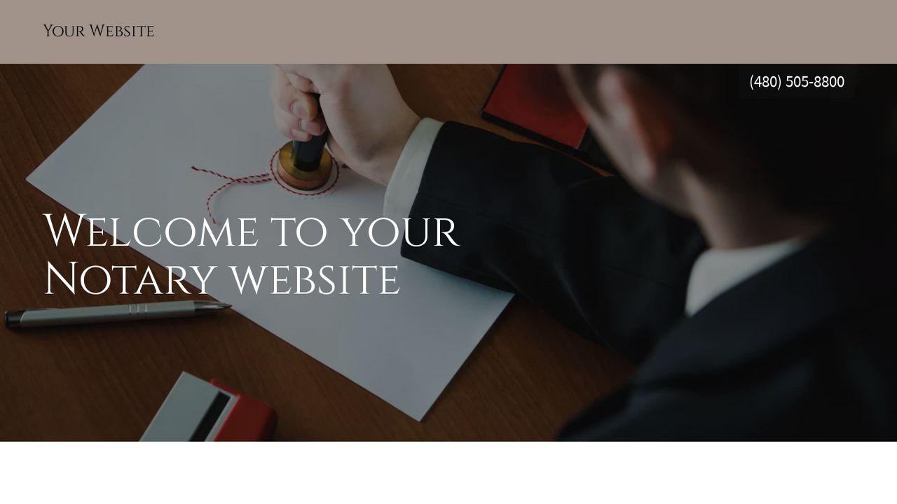 Notary Website Templates | GoDaddy