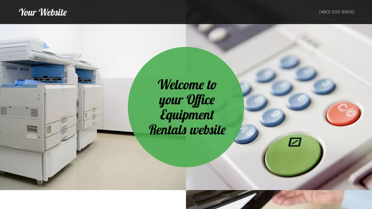 example 15 office equipment rentals website template godaddy. Black Bedroom Furniture Sets. Home Design Ideas
