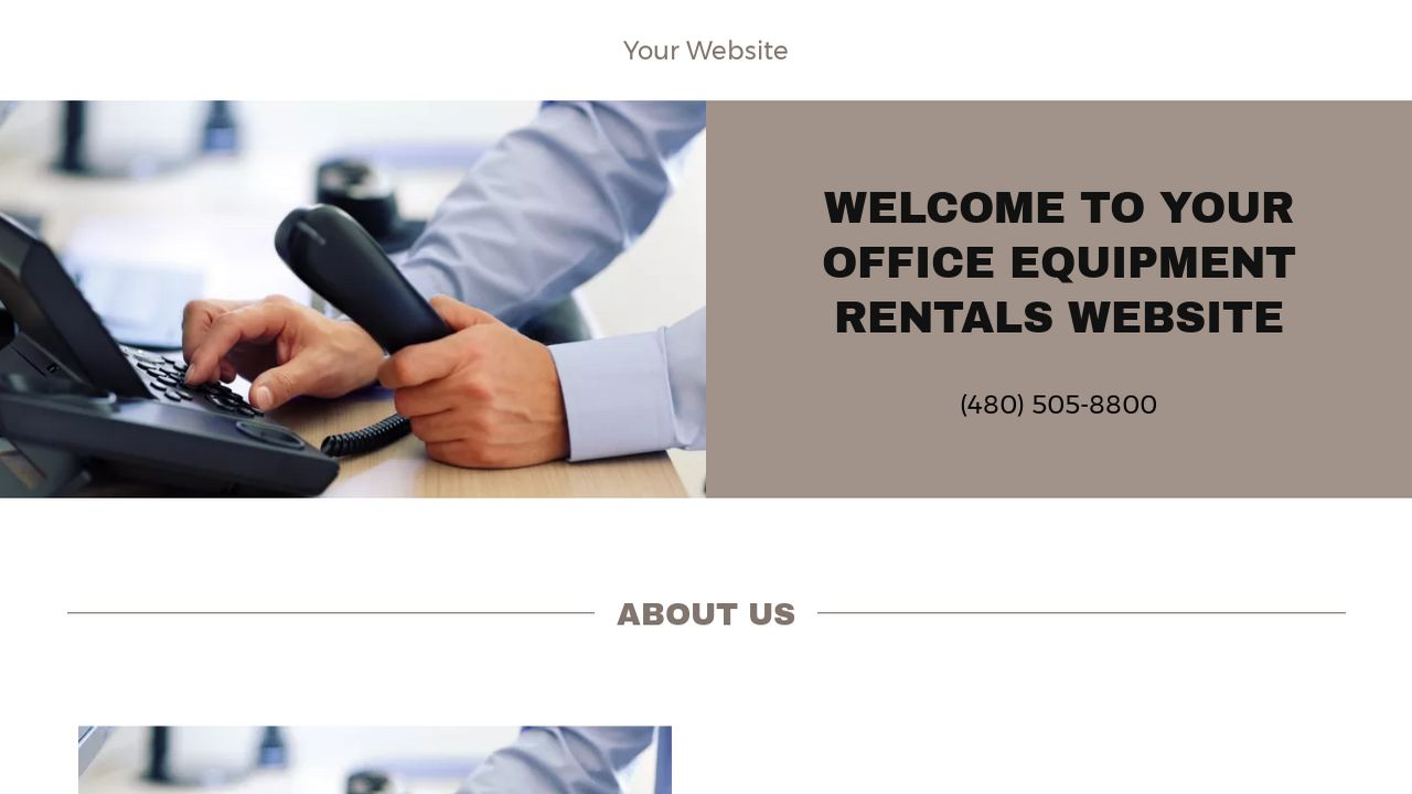 example 17 office equipment rentals website template godaddy. Black Bedroom Furniture Sets. Home Design Ideas