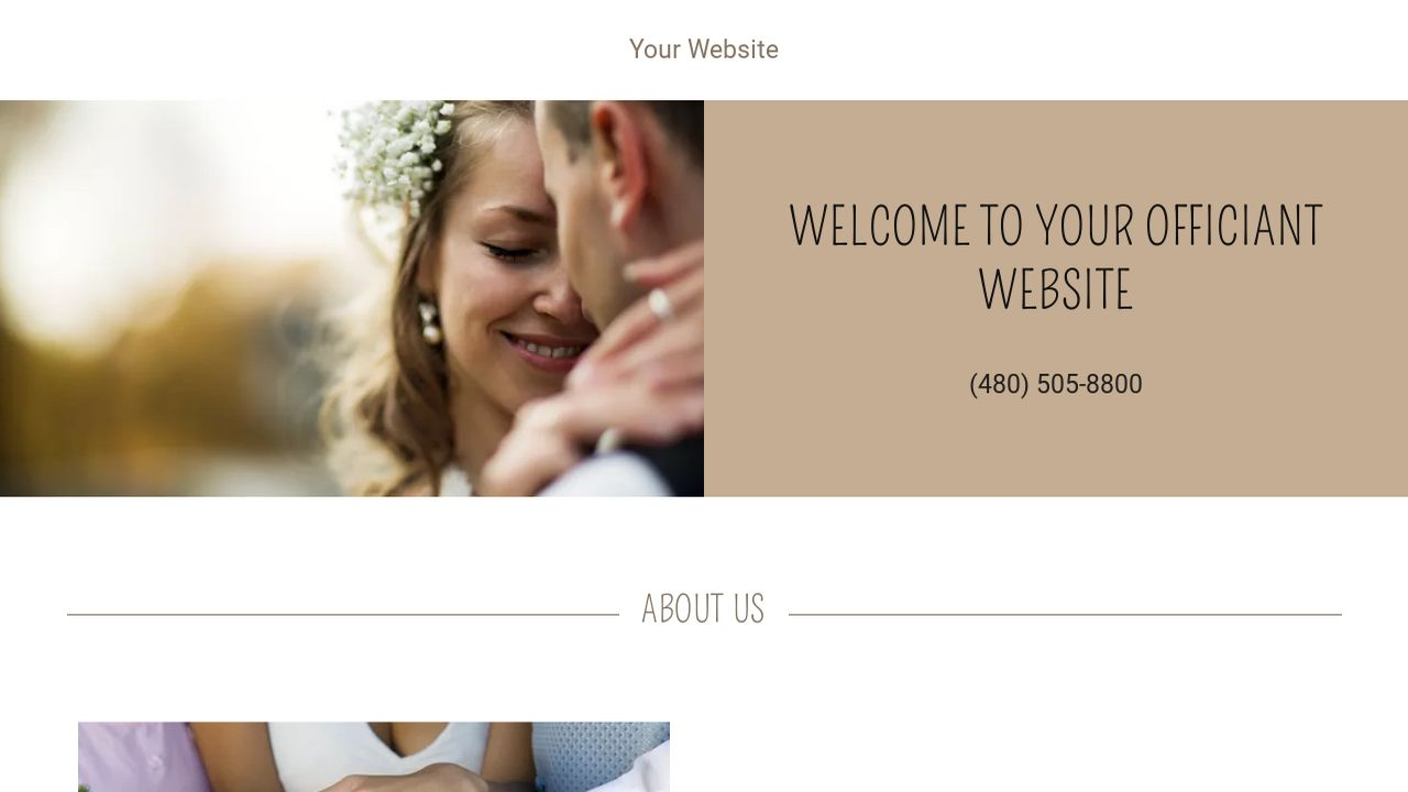 example 10 officiant website template godaddy. Black Bedroom Furniture Sets. Home Design Ideas