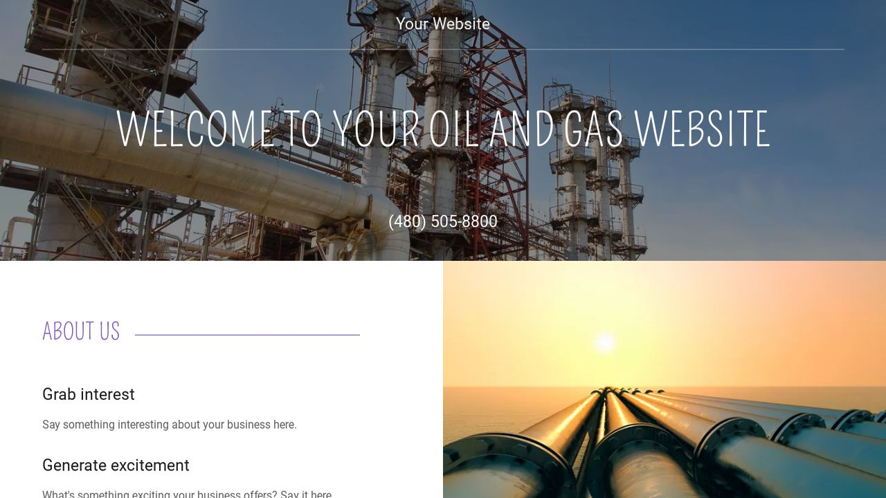 example 14 oil and gas website template godaddy. Black Bedroom Furniture Sets. Home Design Ideas