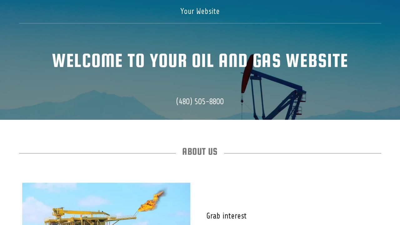example 13 oil and gas website template godaddy. Black Bedroom Furniture Sets. Home Design Ideas