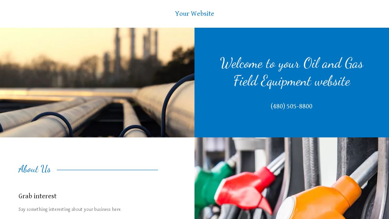 example 9 oil and gas field equipment website template godaddy. Black Bedroom Furniture Sets. Home Design Ideas