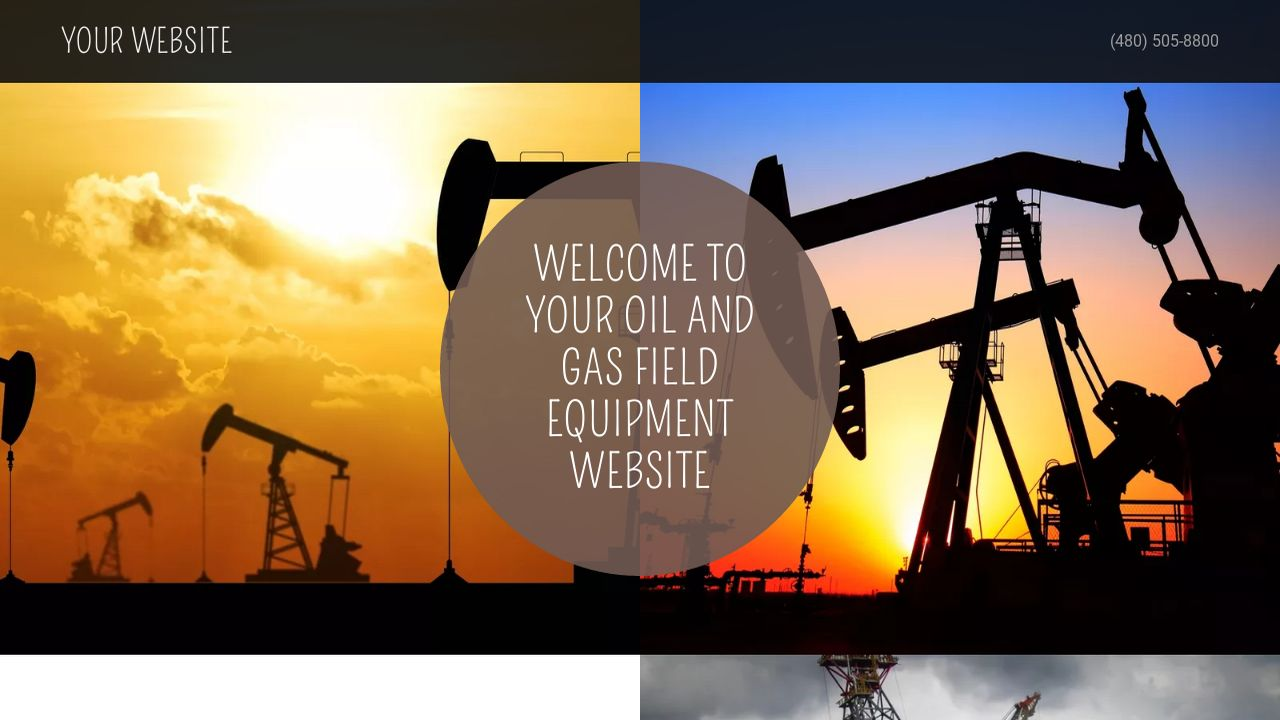 oil and gas field equipment website templates godaddy. Black Bedroom Furniture Sets. Home Design Ideas