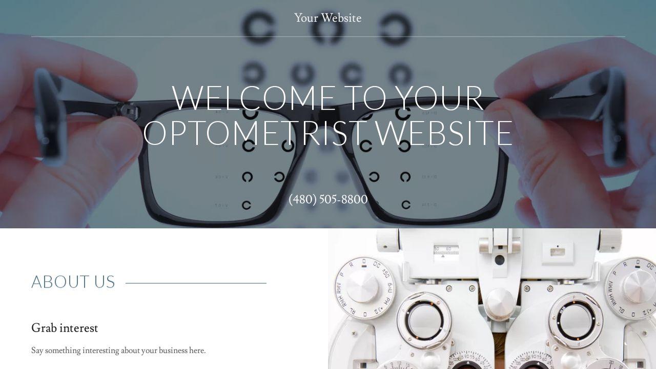 Optometrist Website Templates | GoDaddy